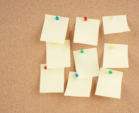 great image of notes pinned to a corkboard photo
