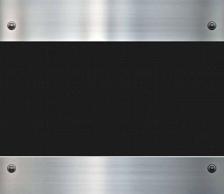 fibra de carbono: imagen de un brillante cepillado metal fondo y fibra de carbono  Foto de archivo