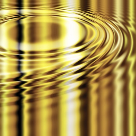 ripples in the liquid molten gold golden metal Stock Photo - 7229476