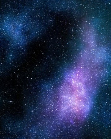 twinkles: deep outer space background with stars and nebula Stock Photo