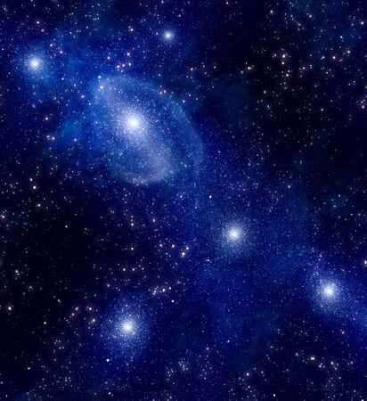 deep outer space background with stars and nebula Stock Photo - 7289569