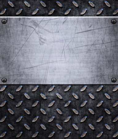old dirty and grungy diamond plate metal background Stock Photo - 7384629