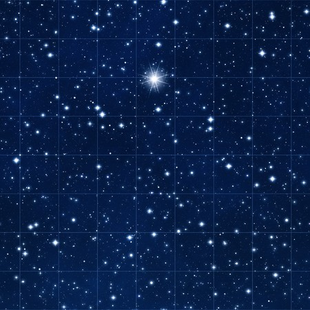 reach for the stars with space gridded starmap and bright destination star
