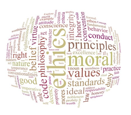 ethics and morales word or tag cloud