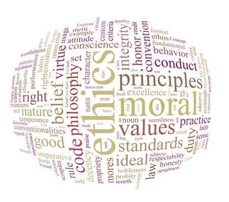 integrit�: nuvola di tag o parola etica e morales Archivio Fotografico