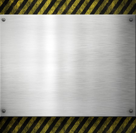 old dirty and grungy plate metal hazard background