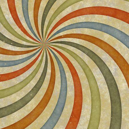early sixties: sixties or early seventies retro grungy sunburst swirl
