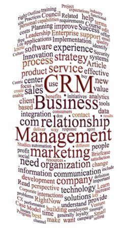 crm: customer relations management word or tag cloud Stock Photo
