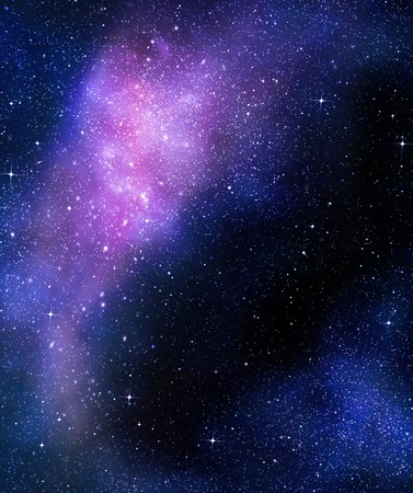 deep outer space background with stars and nebula Standard-Bild