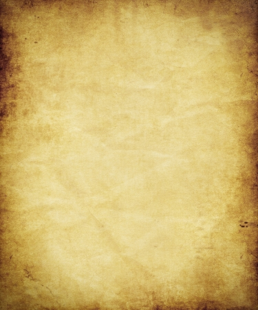 paper: old antique brown paper or parchment  Stock Photo