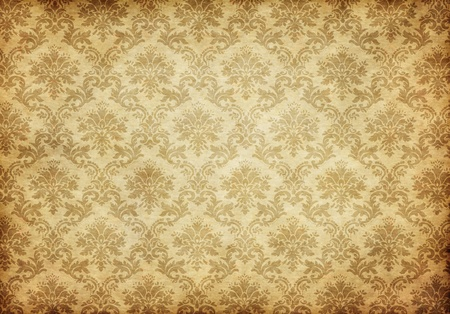 vintage wallpaper: great retro background of some old dirty and grungy wallpaper Stock Photo