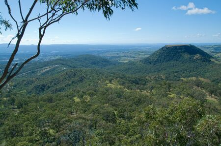 toowoomba: looking out over the forests and hills at toowoomba