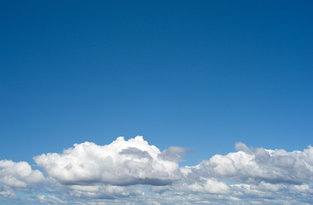 perfect blue sky above the clouds Stock Photo - 8767301