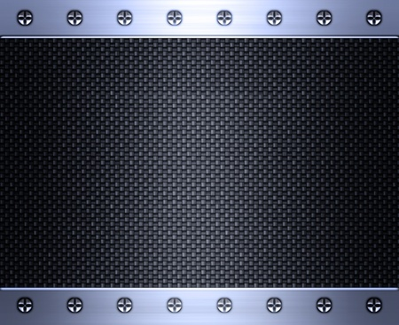 image of carbon fibre inlaid in brushed steel frame