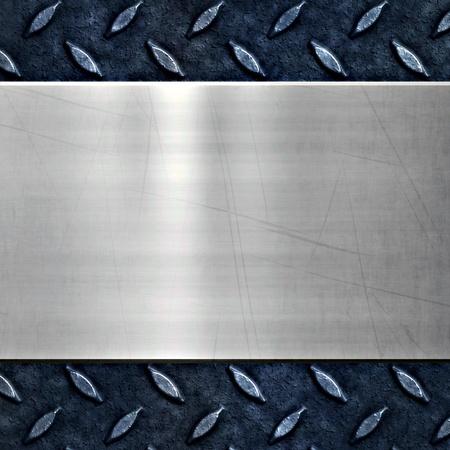 piastra acciaio: vecchio metallo sfondo di diamante sporco e sgangherata piastra