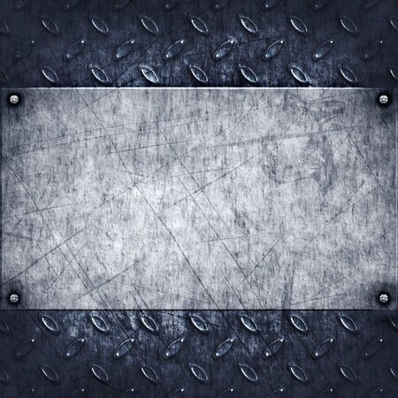 old dirty and grungy diamond plate metal background Stock Photo - 9094423