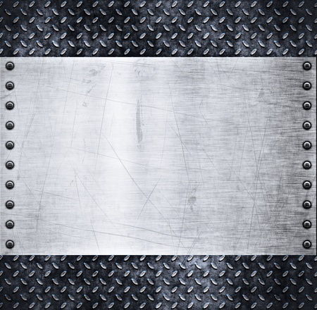 plaque: old dirty and grungy diamond plate metal background