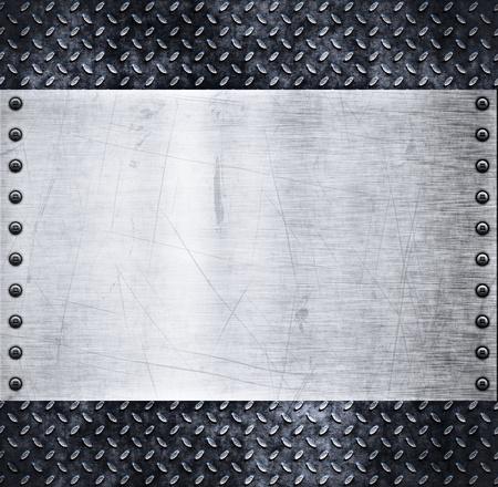 acier: vieux fond m�talliques de diamants sales et grungy plaque