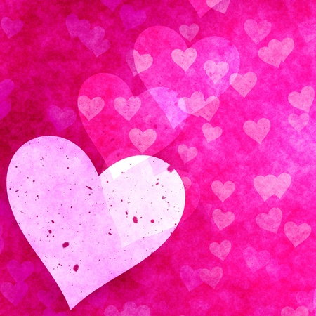 great illustration of pink love heart symbols Stock Illustration - 9498518