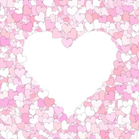 great illustration of a  love heart symbols