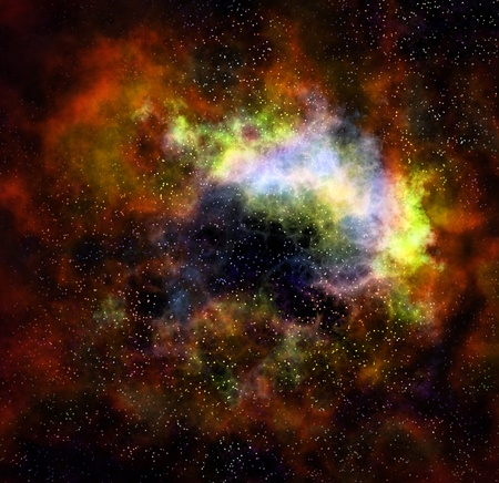 deep outer space gas cloud nebula galaxy and stars Stock Photo - 9498491