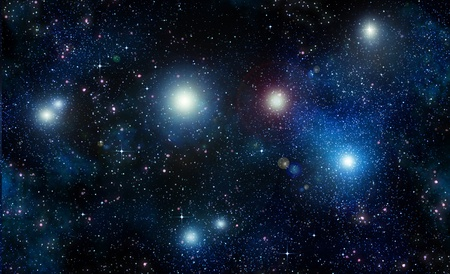 stars in space or night sky Stock Photo
