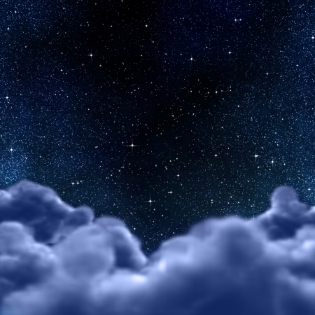 starry sky: space or night sky through clouds