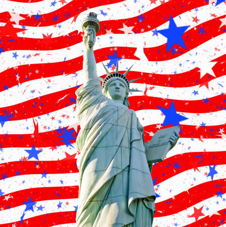 statue liberty stars stripes for 4th july Stock Photo - 9665811