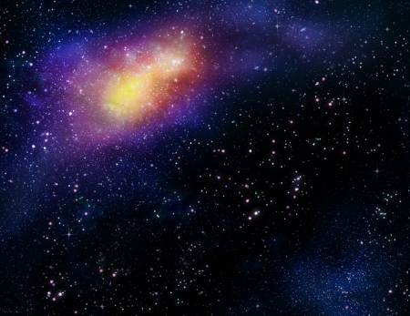 starry deep outer space nebula and galaxy photo