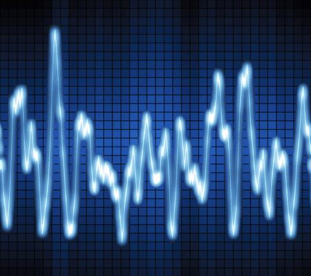 image of a blue audio or sound wave photo