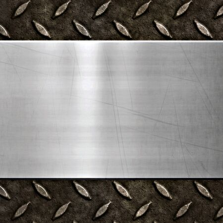 old dirty and grungy diamond plate metal background photo
