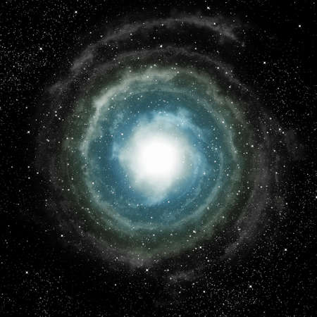 a spiral galaxy in deep outer space photo
