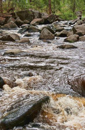 rushing water: image of rushing water in river or stream
