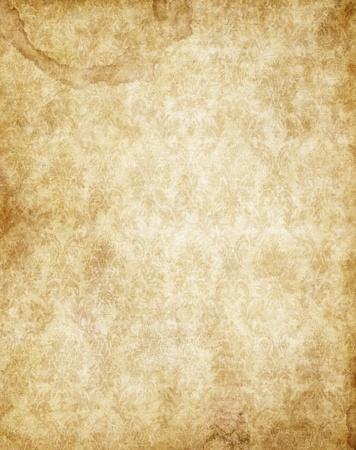 parchment texture: old yellow brown vintage parchment paper texture Stock Photo