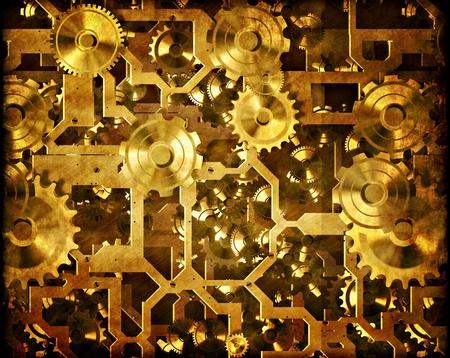 maschinen: Zahnr�der und Uhrwerk Steampunk Maschinen Lizenzfreie Bilder