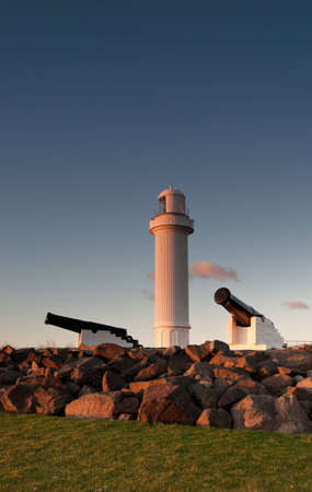 lighthouse and cannons at wollongong photo