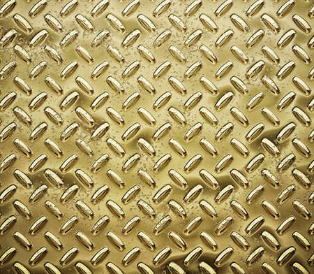 checkerplate: gold diamond plate Stock Photo