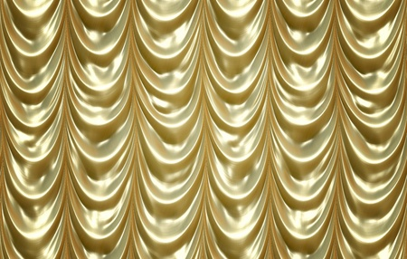 luxurious golden curtains photo