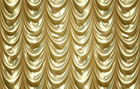 luxurious golden curtains photo