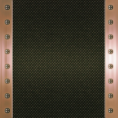 plating: carbon fibre and copper background