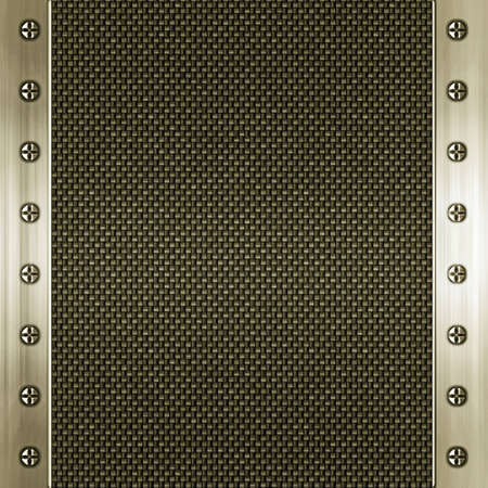 carbon fibre and gold background photo