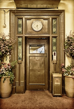 elevators: old elevator door