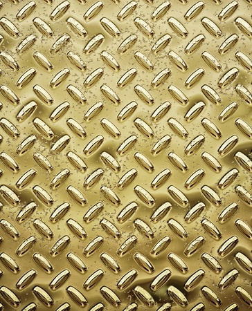gold tread or diamond plate Stock Photo - 12757206