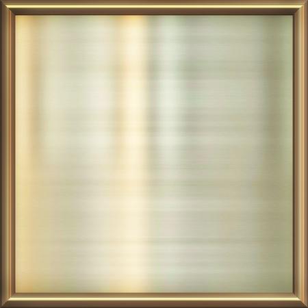 plating: metal award frame Stock Photo