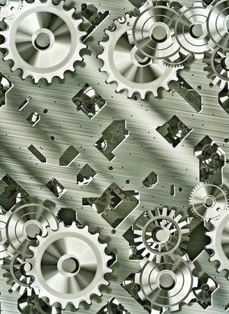 steampunk cogs and gears photo
