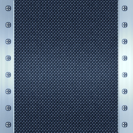 carbon fibre and steel background photo