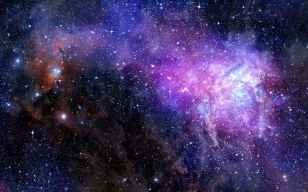 cielo estrellado: nebulosa nube de gas en el espacio profundo Foto de archivo