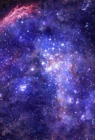 starfield: nebula gas cloud in deep outer space
