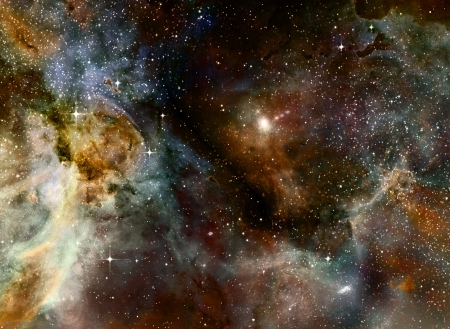 outer space: nebula gas cloud in deep outer space