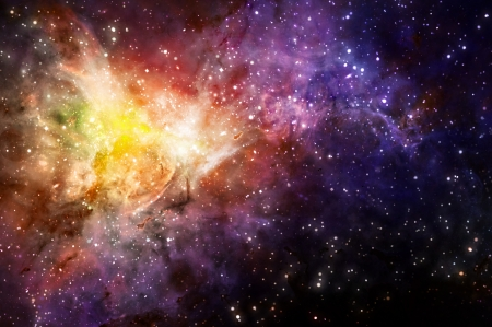 starry background of deep outer space photo
